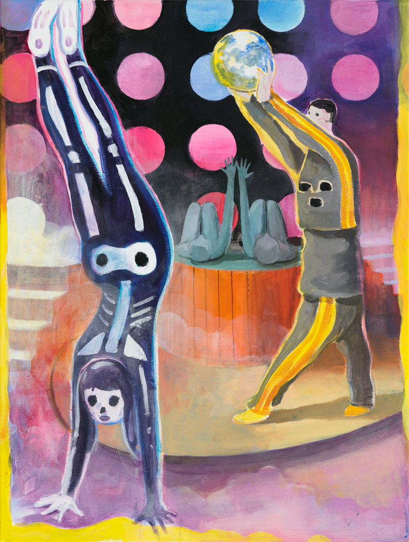 Tilo Baumgärtel, Burger around the World, 2015, oil on canvas, 80×60 cm