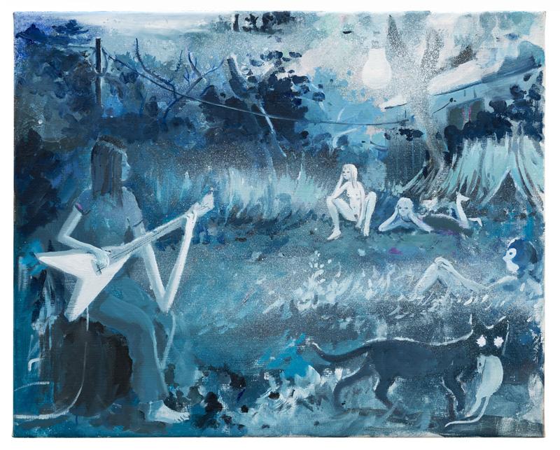 Tilo Baumgärtel, Untitled, 2014, oil on canvas, 40×50 cm