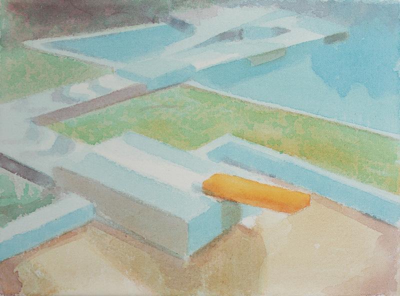 Tom Fabritius, Parcour, 2018, acrylic on canvas, 30×40 cm