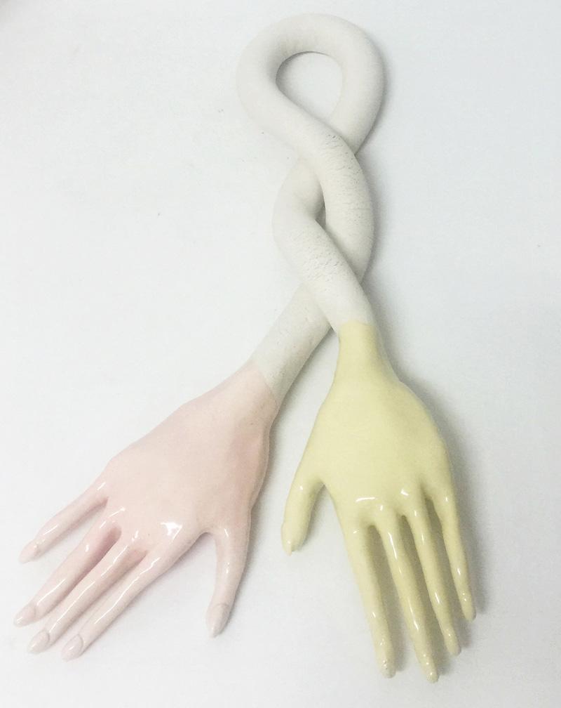 Lusesita, Dislexia,  2017, ceramic and enamel, 52x26x6 cm