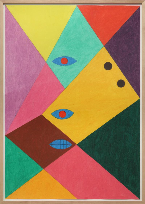 Christoph Ruckhaberle, Untitled 8, 2014, oil pastel on paper, 100×70 cm