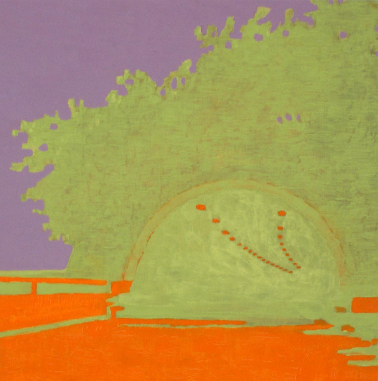 Luca Pancrazzi, Interno (tunnel), 2000-2002, oil on board,  30×30 cm