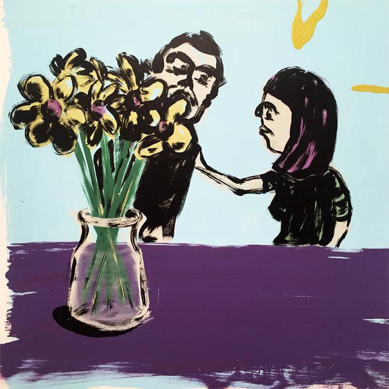 Russ Pope, Bouquet, 2018, acrylic on canvas, 83×83 cm