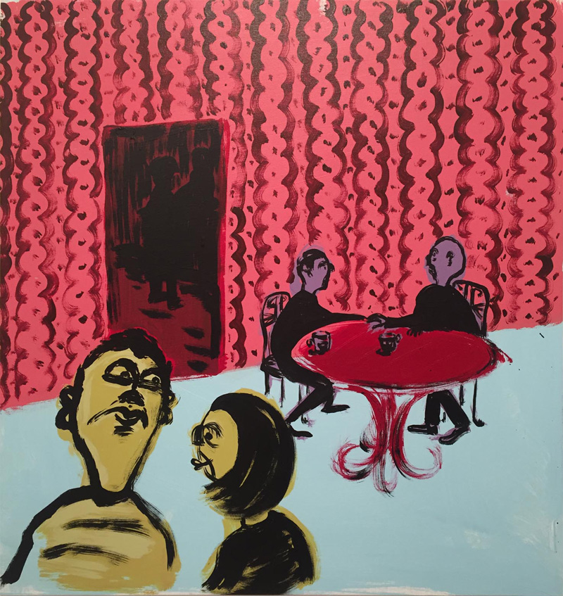 Russ Pope, Wallpaper, 2018, acrylic on canvas, 85×80 cm