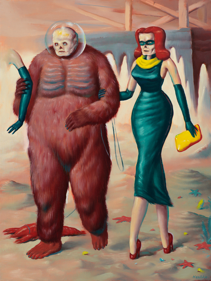 Ryan Hehska, The Purloiners, 2018, oil on wood panel, 40×30 cm