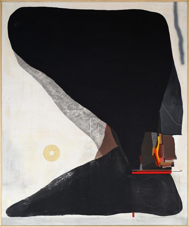 108, Dicembre (La relazione tra i disturbi d'ansia nella società moderna e lo sciamanesimo originario), 2018, mixed media on canvas, 120×100 cm