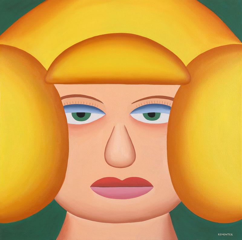 Andy-Rementer,-Venere,-2019,-oil-on-canvas,-76×76-cm