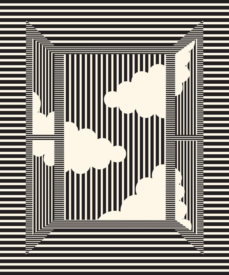 Olimpia Zagnoli, Bathroom window, 2019, limited edition of 8 giclee prints on Somerset Velve, 60×50 cm