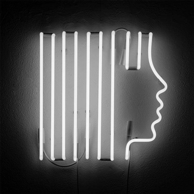 Olimpia Zagnoli, Profilo Lineare, 2019, neon, limited edition of 5, 42x42x5,5 cm
