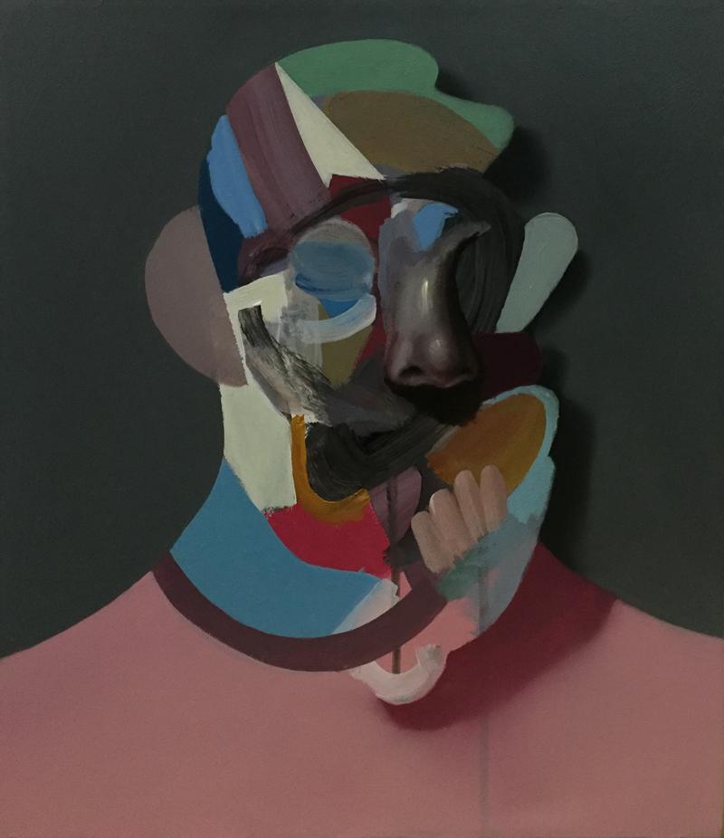 Giuliano Sale, Senza Titolo, 2019, acrilico su tela., 35×30 cm