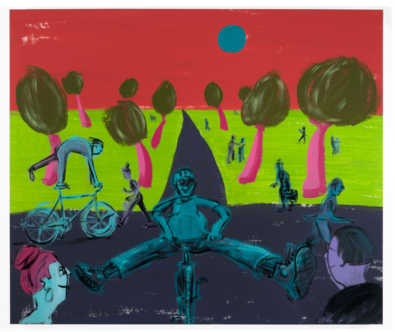 Russ-Pope,-Friday-Nights-alright,-2020,-acrilico-su-tela,-125×148-cm
