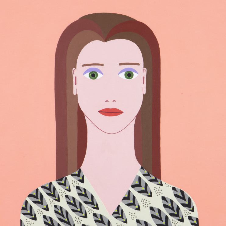 Fulvia Mendini, Afrodite, 2017, Acrylic On Canvas, 69×60 Cm