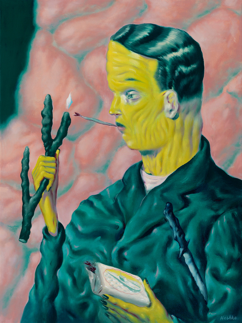 Ryan-Heshka,-The-Coral-Marauder,-2018,-oil-on-canvas,-60×45-cm