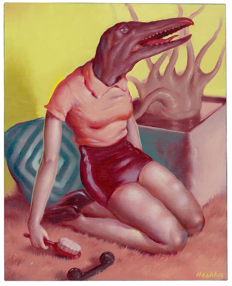 Ryan-Heshka,-The-Hunger-is-Upon-me,-2018,-oil-on-cradled-wood-panel,-25×20-cm