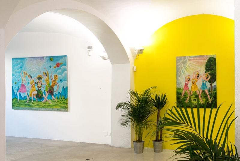 Sergio Mora, Cosmic Dancers, installation views