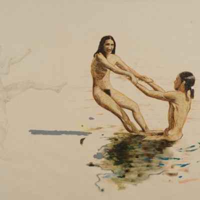 Andrea Salvino, FKK…Freikorperkultur O Del Nudismo, 2009, Olio Su Tela, 180x230cm