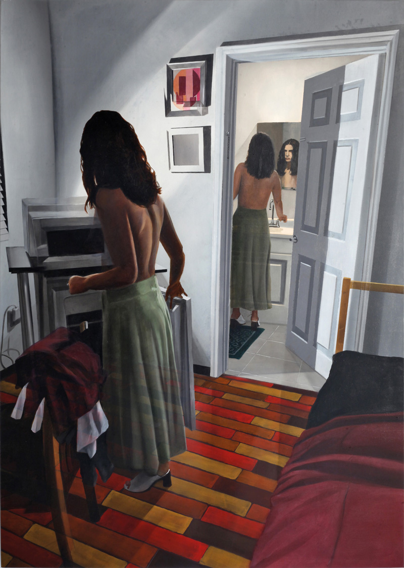 Dario Maglionico, Reificazione #46, 2018, oil on canvas, 120 x 85 cm