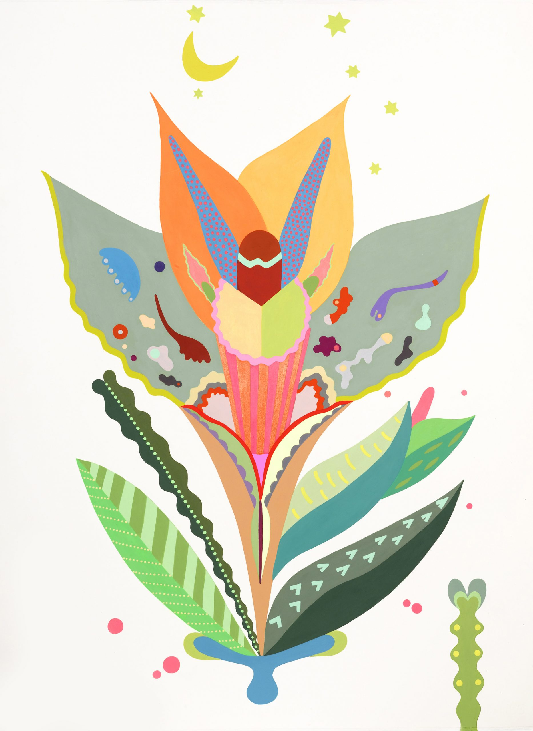 Fulvia Mendini, Orchidea della luna, cm 75×55