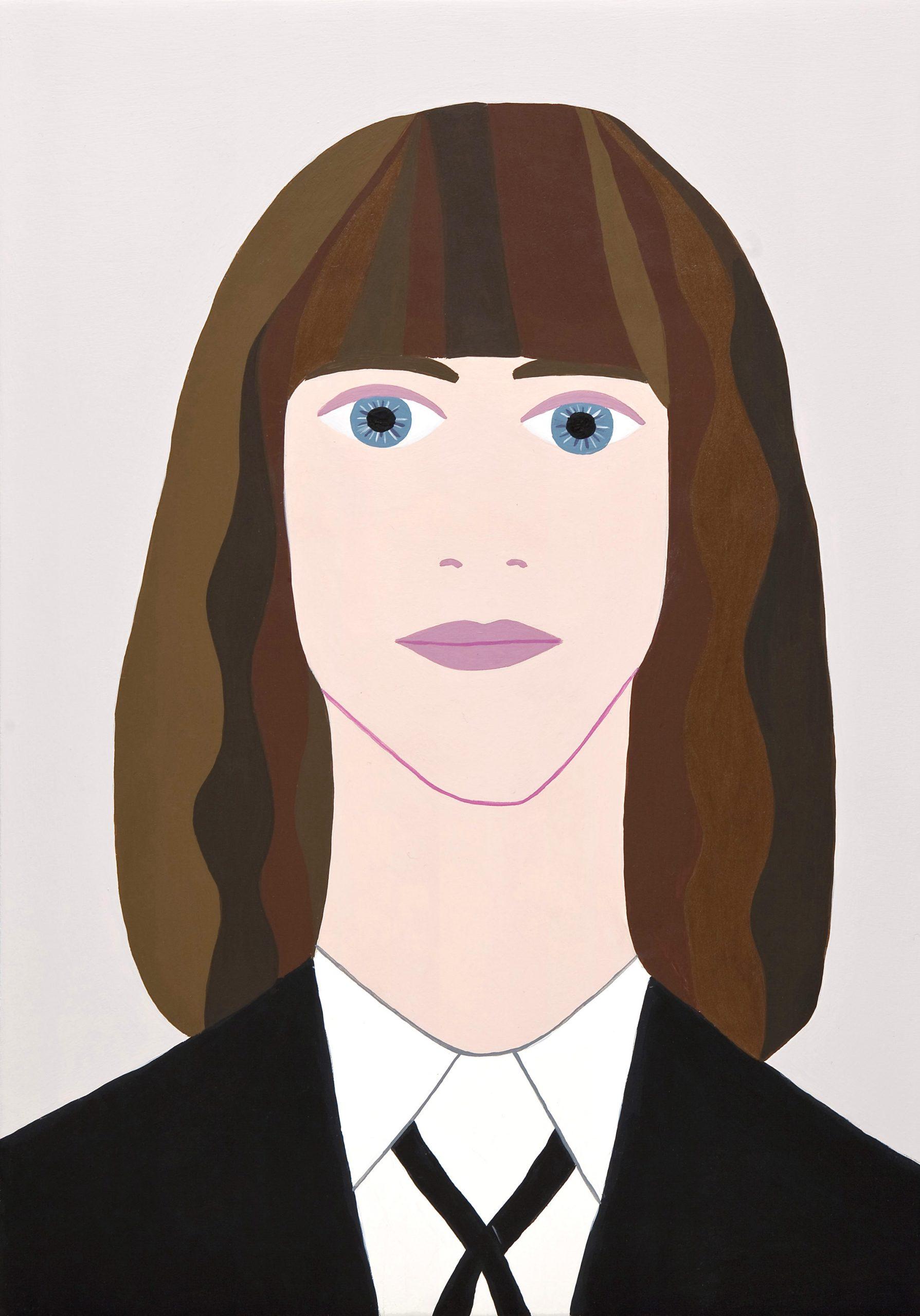 Fulvia Mendini, Patti Smith, 2011, acrilici su tavola di legno, 33x23cm