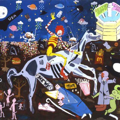 Laboratorio Saccardi, The Triumph Of Death, 2007, Acrilico Su Tela, 200 X 250 Cm
