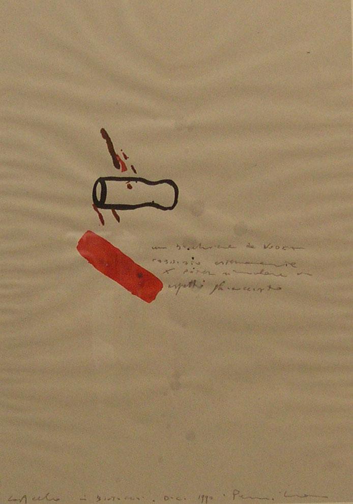 Pancrazzi, Disegni, 1990, acquarello e matita su carta, cm 37,5×28,5-12