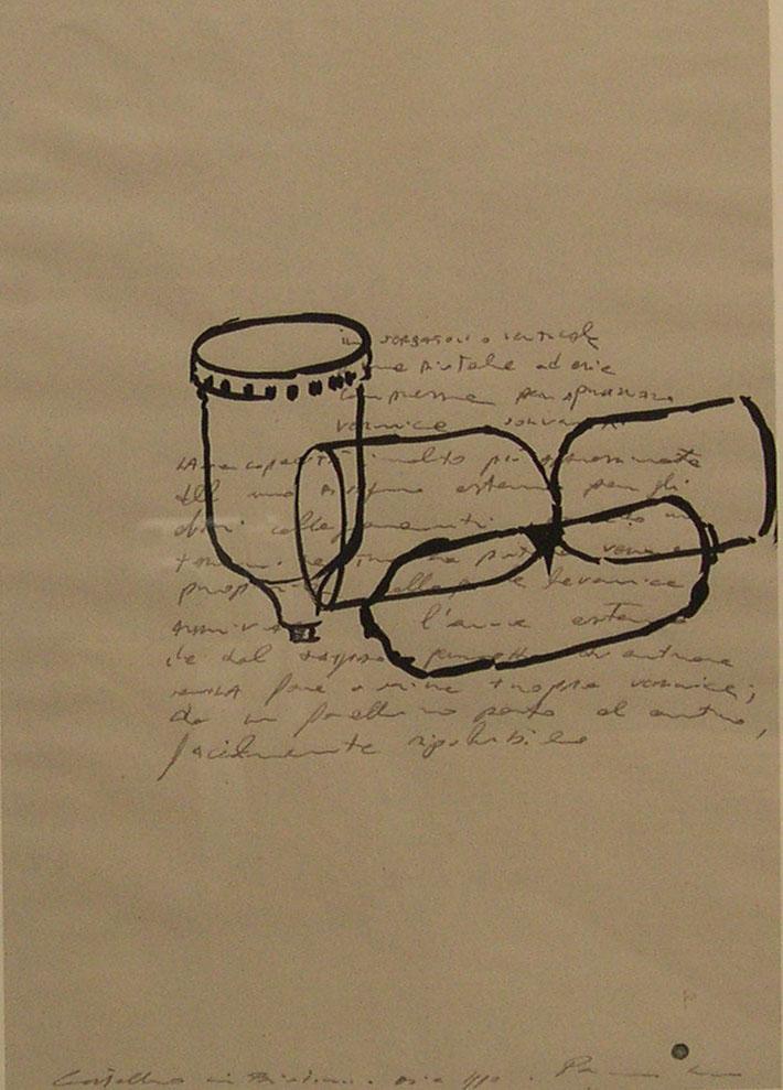 Pancrazzi, Disegni, 1990, acquarello e matita su carta, cm 37,5×28,5-4