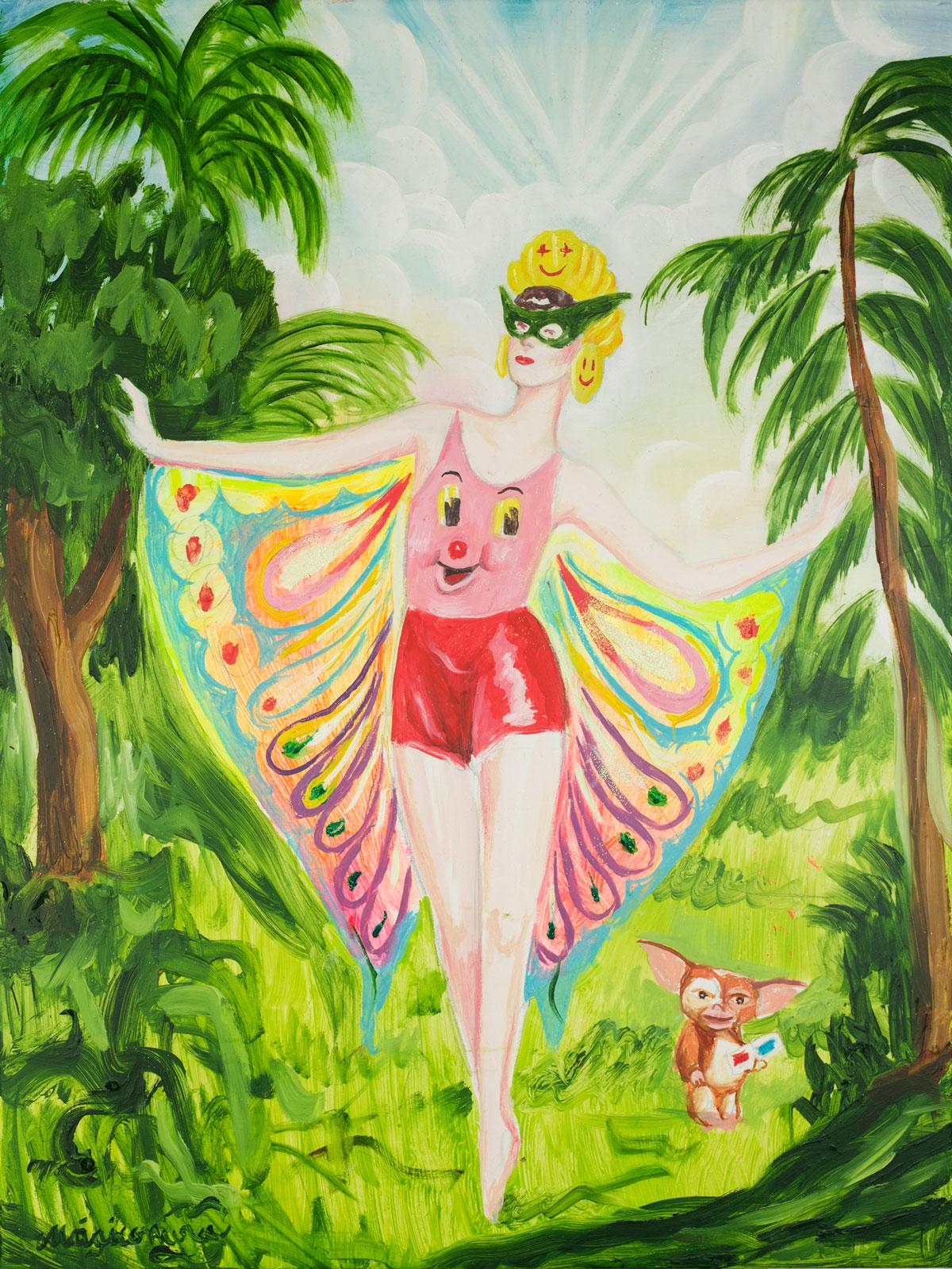 Sergio Mora, Butterfly dancer, 2020, oil on canvas, 61,5x46 cm