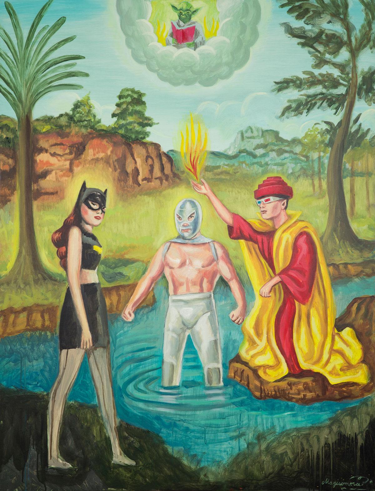 Sergio Mora, The Power of Fiction, 2020, olio su tela, 89x116 cm