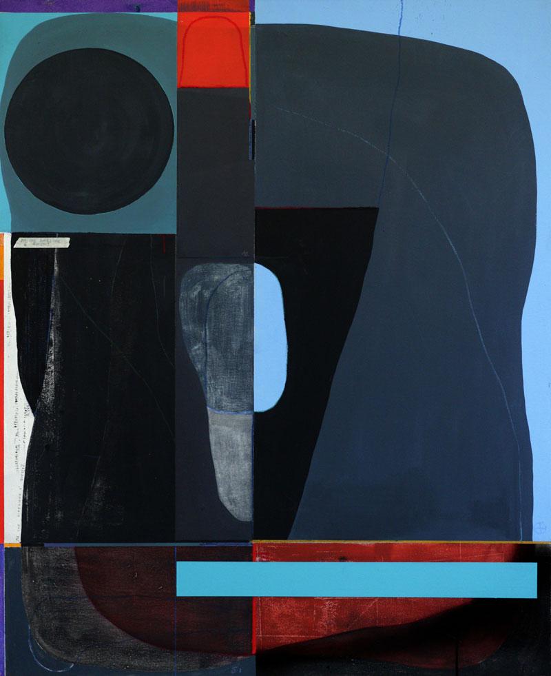 108, Ma che direzione, 2021, tecnica mista su tela, 100 x 80 cm
