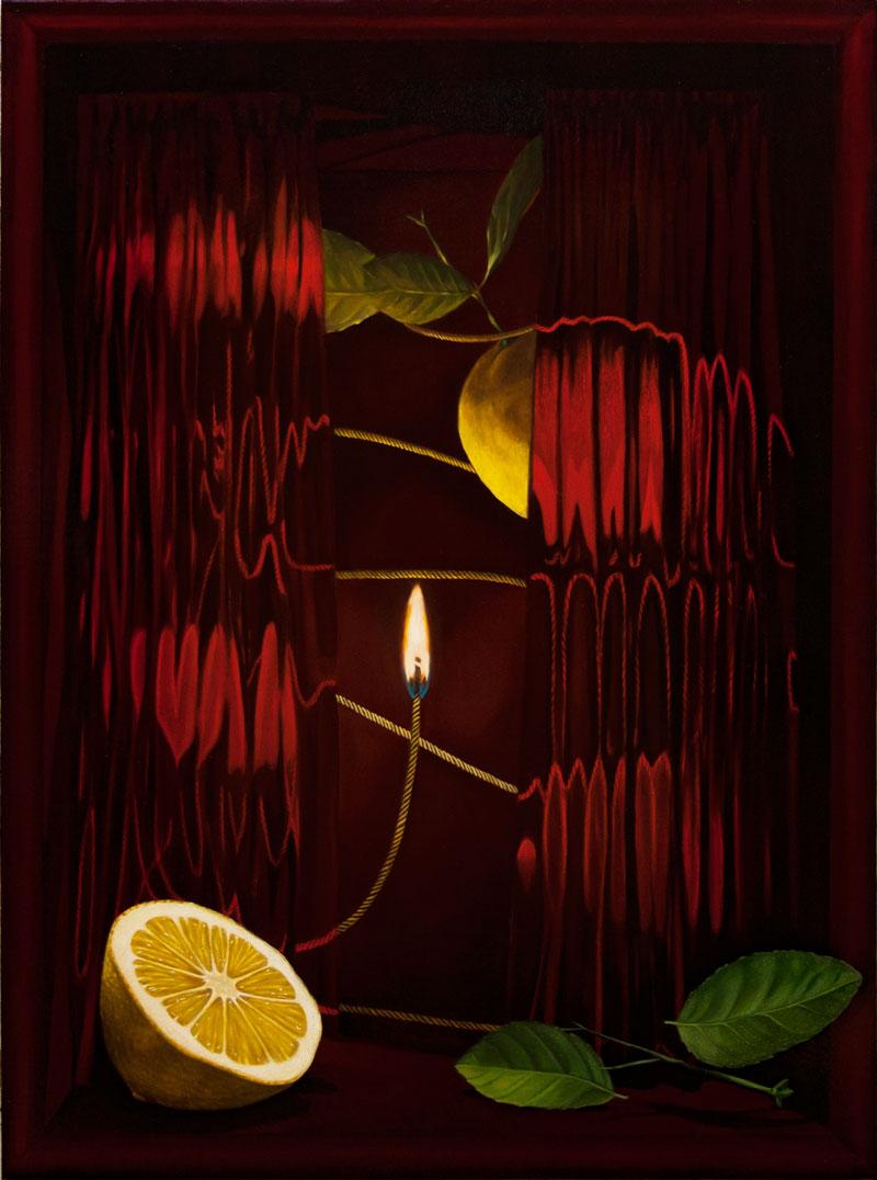Dario Maglionico, Acausality #3, 2021, oil on canvas, 70 x 95 cm