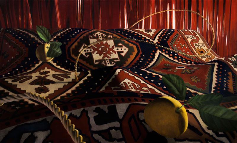 Dario Maglionico, Reificazione #79, oil on canvas, 65 x 105 cm