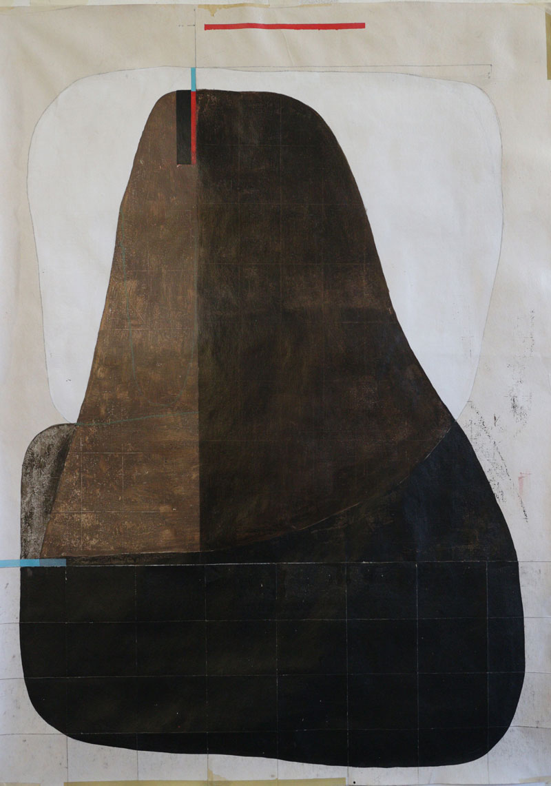 108, Untitled, 2021, mixed media on paper, 69,5 x 50 cm