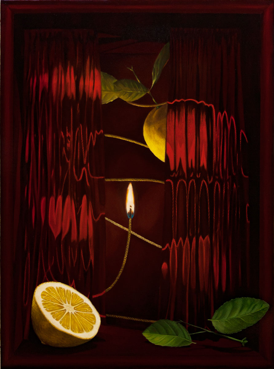 Dario-Maglionico,-Acausality-#3,-2021,-oil-on-canvas,-70-x-95-cm