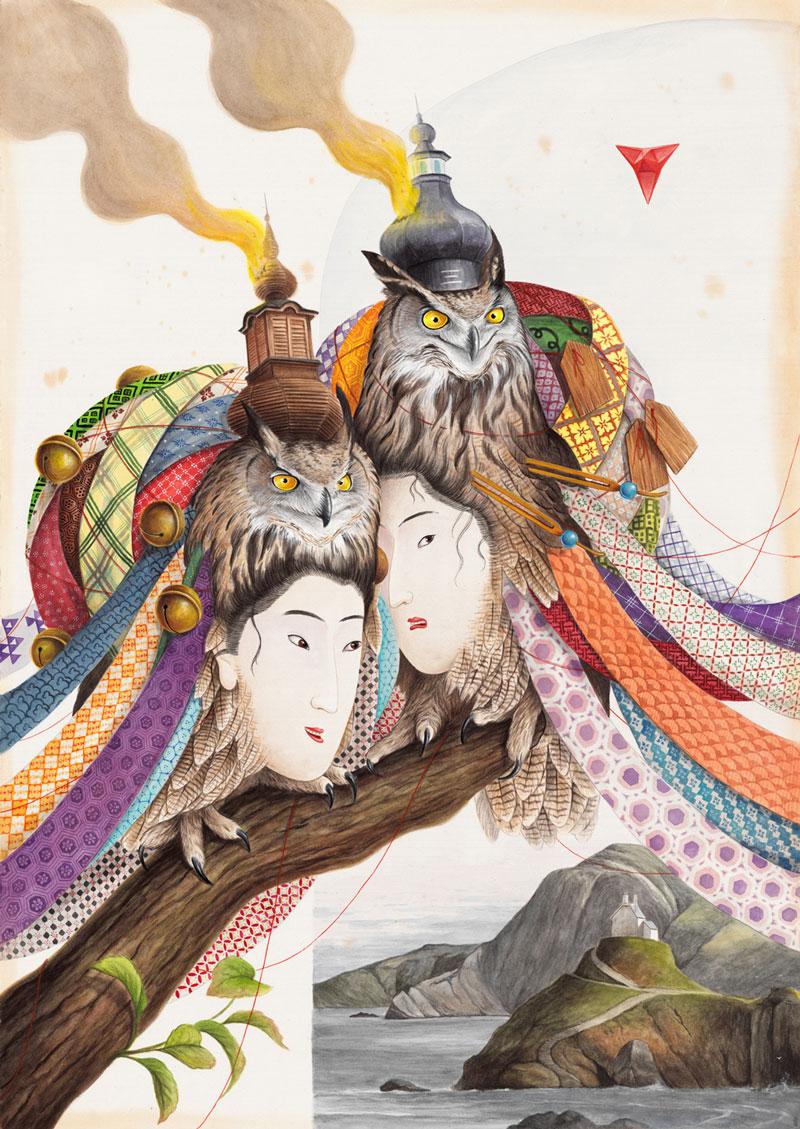 El-Gato-Chimney,-Wishpering-Secretes,-2021,-watercolor-and-gouache-on-cotton-paper,-100×70-cm