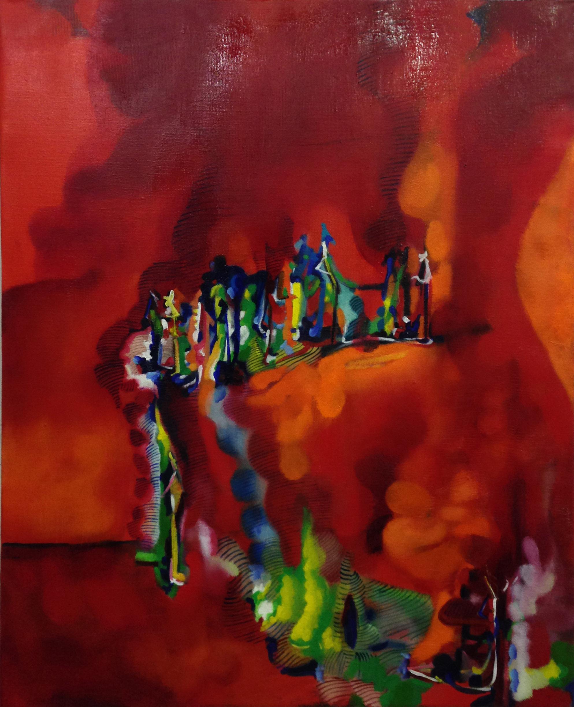Marco Cingolani, Di Che Paese Siete, 2005-2013, olio su tela, 100×80 cm